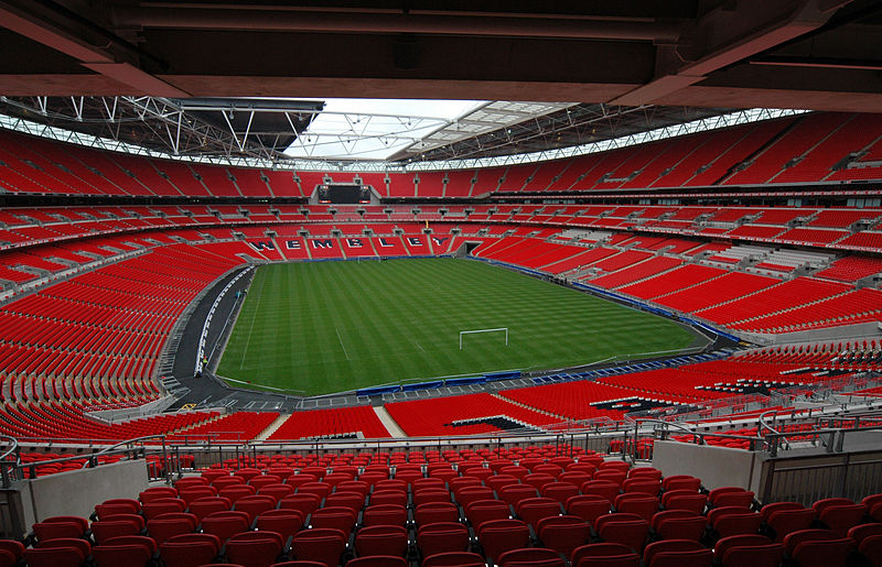 England vs Montenegro will take place at Wembley Stadium - Image by Jbmg40 CC-BY-SA-3.0
