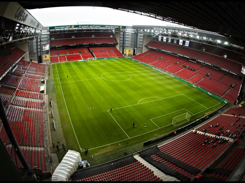 Copenhagen vs Dynamo Kyiv will take place at the Parken in Copenhagen. (Photo by Klaus Sletting Jensen/EuroFootball/Getty Images)