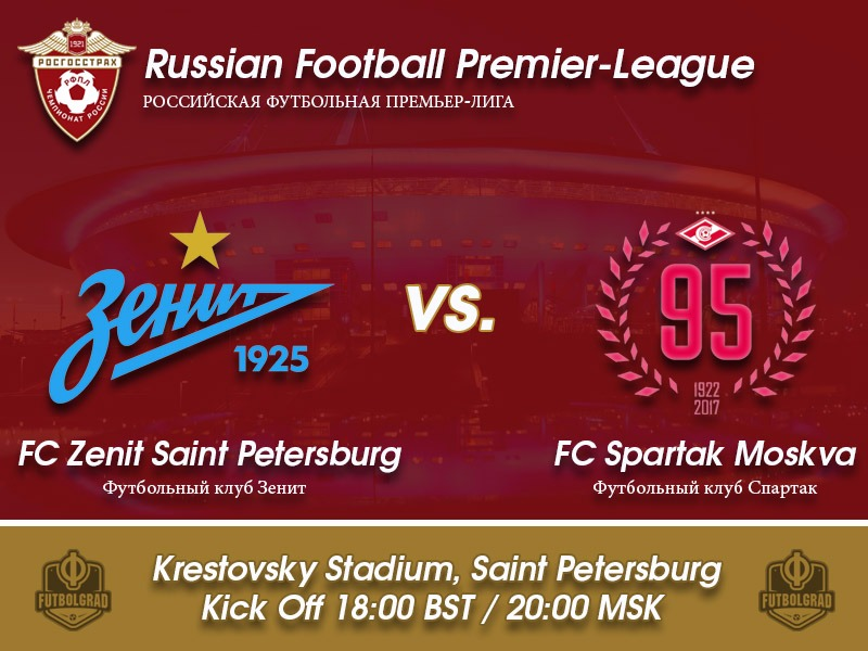 Zenit v Spartak Moscow – Russian Football Premier League Game of the Week