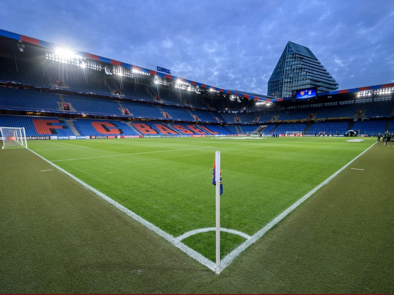 Basel vs Krasnodar will take place at the St. Jakob Park in Basel. (FABRICE COFFRINI/AFP/Getty Images)