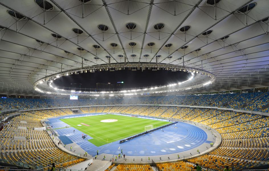 Dynamo Kyiv vs Lugano will take place at the NSC Olimpiyskiy Complex in Kyiv. (Photo by Genya Savilov/EuroFootball/Getty Images)
