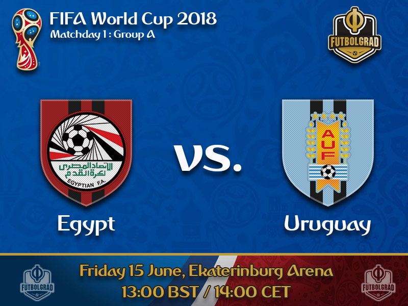 Egypt face Uruguay in their first World Cup match since 1990