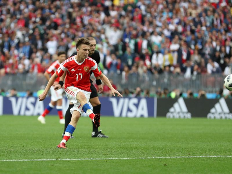 Aleksandr Golovin will be crucial for Russia against Sweden (Photo by Catherine Ivill/Getty Images)