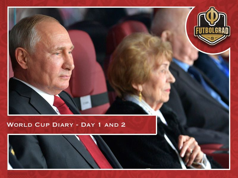 World Cup Diary – Day 1 and 2: Putin's fun day out