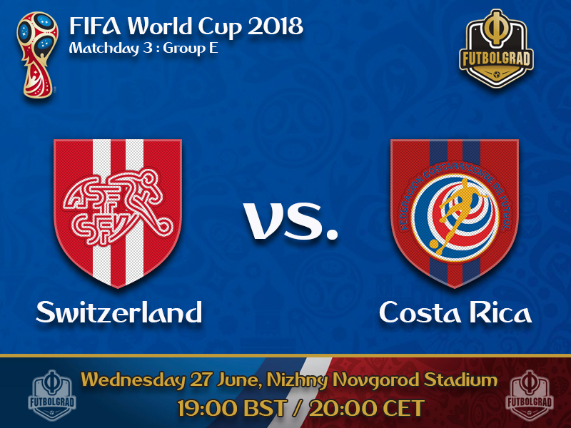 Switzerland look to finish first in Group E with a win over Costa Rica