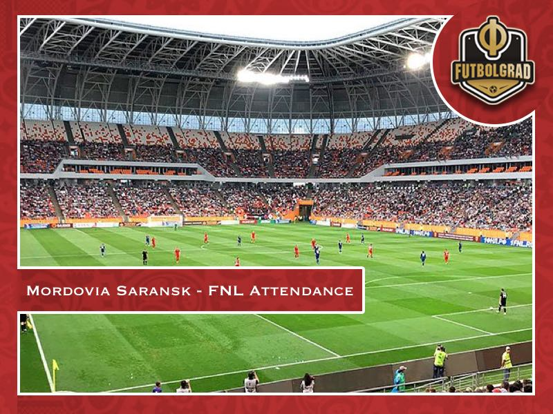 Mordovia Saransk – 26,000 see first post-World Cup game