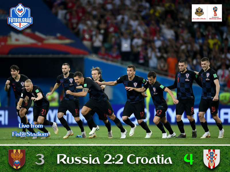 Croatia shatters Russia's dreams and move on to face England