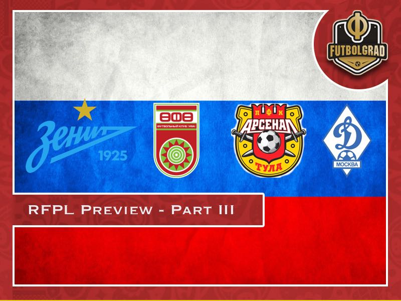 Russian Football Premier League 2018/19 Season Preview – Part III