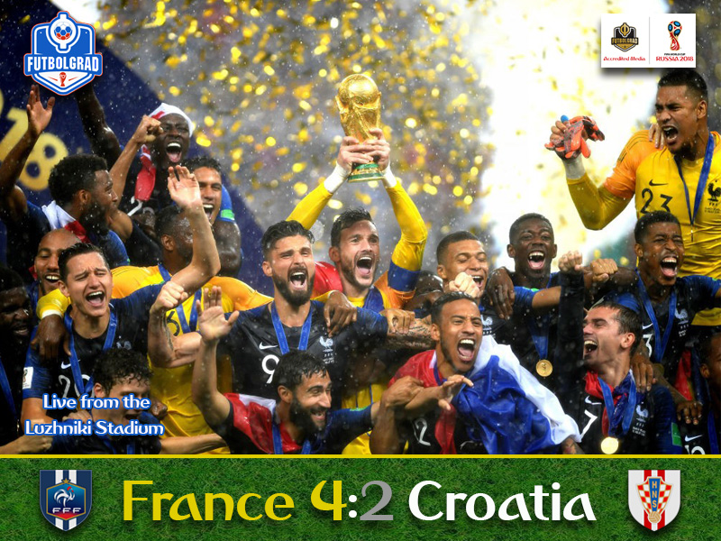 France stop Croatia to win their second World Cup
