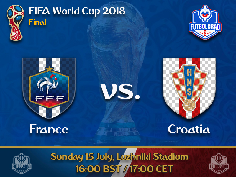 France will take on Croatia to determine the new kings of world football