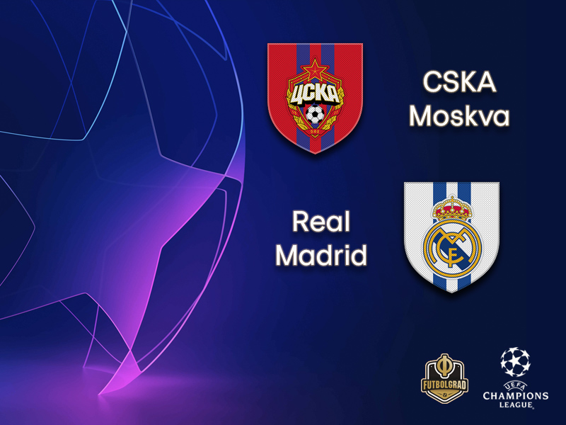 CSKA Moscow host Spanish giants Real Madrid at the Luzhniki