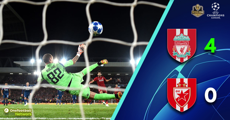Crvena Zvezda thumped at Anfield as Liverpool go top of Group C