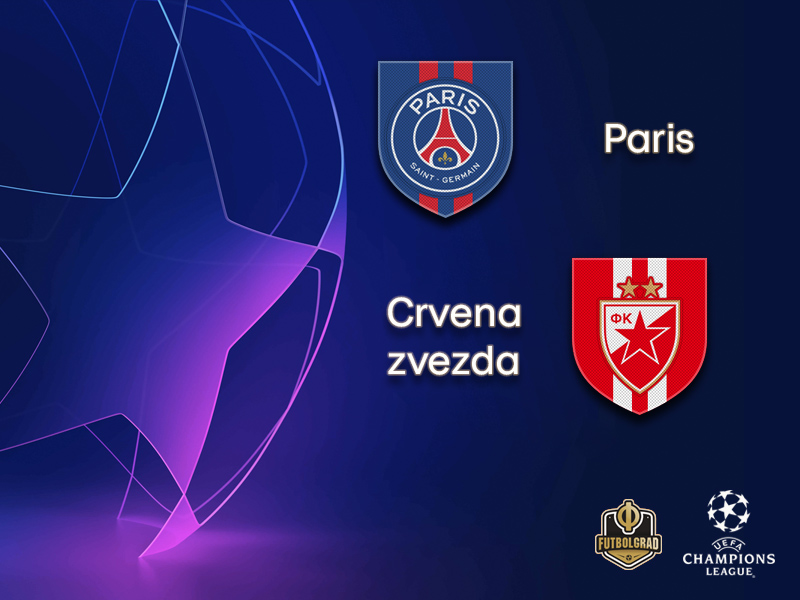 Paris Saint-Germain host Serbian giants Crvena zvezda