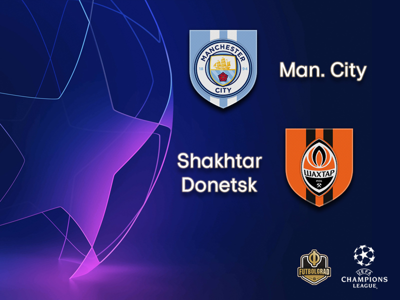 Champions League – Manchester City once again host Shakhtar Donetsk