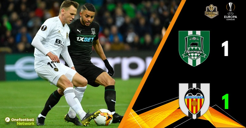 Krasnodar strike first but late Valencia goal means tears for the Russians