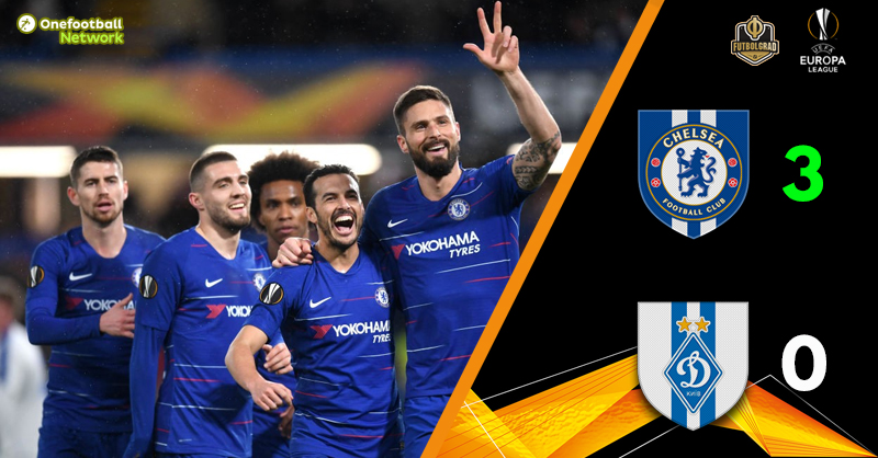 Chelsea hammer Dynamo Kyiv and are all but through to the next round