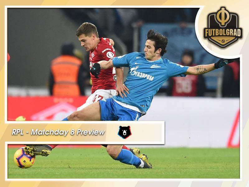 Russian Premier Liga: Spartak vs Zenit the highlight on MD 8