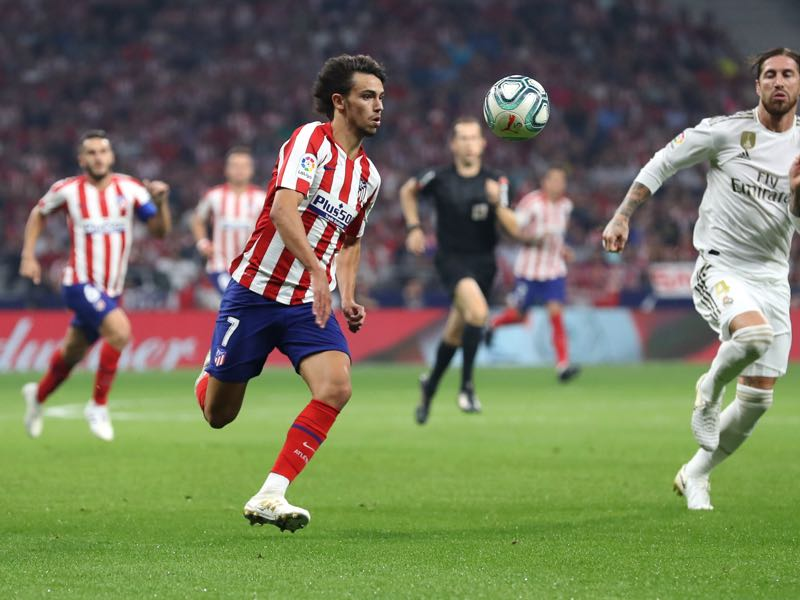 Joao Felix of Atletico Madrid in action during the Liga match between Club Atletico de Madrid and Real Madrid CF at Wanda Metropolitano on September 28, 2019 in Madrid, Spain. (Photo by Angel Martinez/Getty Images)
