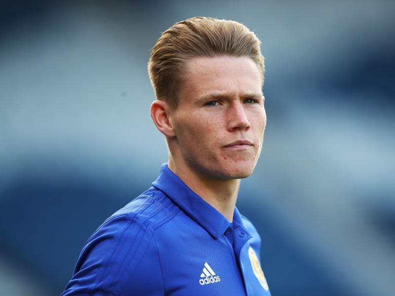 Scott McTominay of Scotland is seen prior to the UEFA Euro 2020 qualifier between Scotland and Russia at Hampden Park on September 06, 2019 in Glasgow, Scotland. (Photo by Ian MacNicol/Getty Images)
