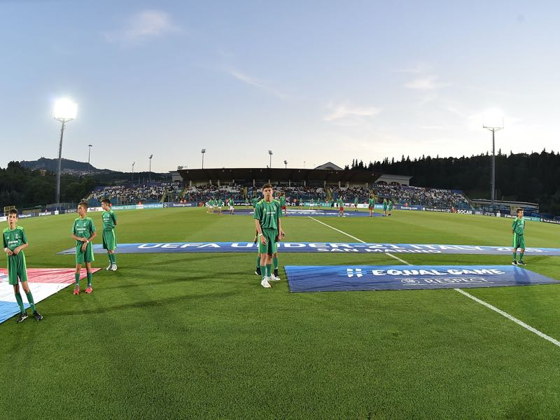 San Marino vs Russia will take place at the San Marino Stadium in Serravalle (Photo by Giuseppe Bellini/Getty Images)