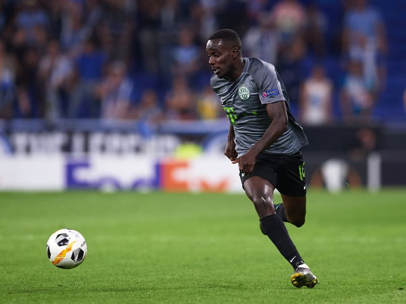 Tokmac Chol Nguen of Ferencvarosi TC runs with the ball during the UEFA Europa League group H match between Espanyol Barcelona and Ferencvarosi TC at Power8 Stadium on September 19, 2019 in Barcelona, Spain. (Photo by Alex Caparros/Getty Images)