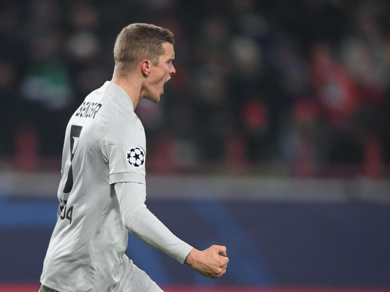 Lokomotiv Moscow v Leverkusen - Leverkusen's German defender Sven Bender celebrates after scoring a goal during the UEFA Champions League group D football match between Lokomotiv Moscow and Bayer Leverkusen at Moscow's RZD Arena on November 26, 2019. (Photo by Kirill KUDRYAVTSEV / AFP)