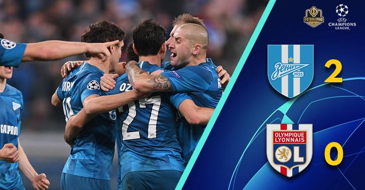 Artem Dzyuba leads Zenit to must-win over Olympique Lyon