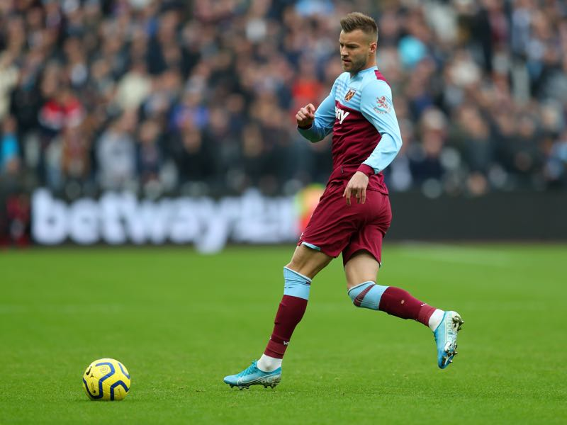 Andriy Yarmolenko of West Ham United during the Premier League match between West Ham United and Tottenham Hotspur at London Stadium on November 23, 2019 in London, United Kingdom. (Photo by Catherine Ivill/Getty Images)