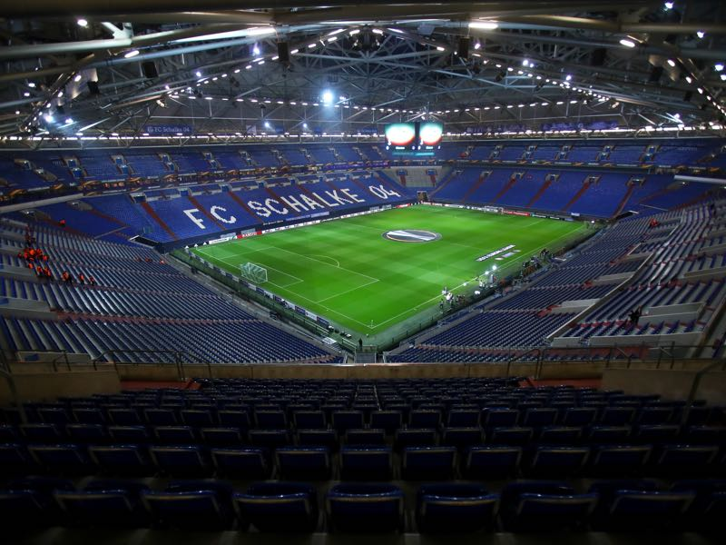Shakhtar Donetsk vs Basel will take place in the Arena Auf Schalke. (Photo by Alex Grimm/Bongarts/Getty Images)