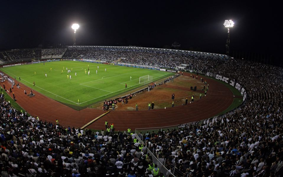 Partizan vs Manchester United will take place at the Partizan Stadium in Belgrade. (Photo by Pedja Milosavljevic/EuroFootball/Getty Images)