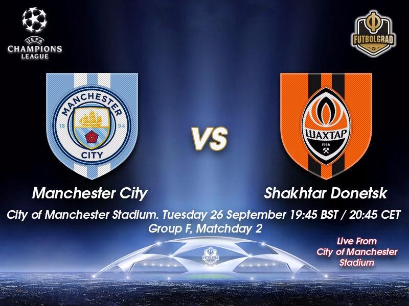 Manchester City v Shakhtar – Champions League Live