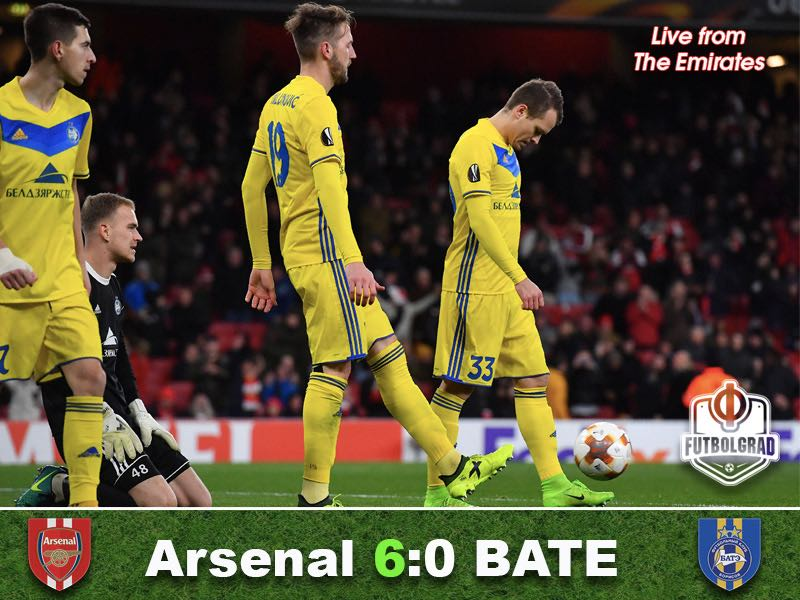 Arsenal vs BATE Borisov – Europa League Match Report