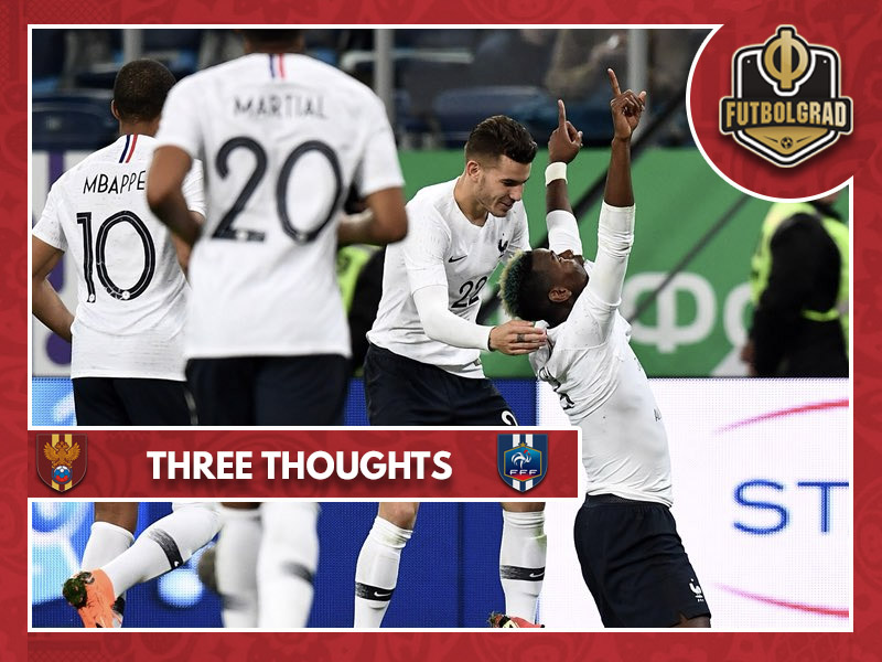 Three thoughts from Russia's friendlies against Brazil and France