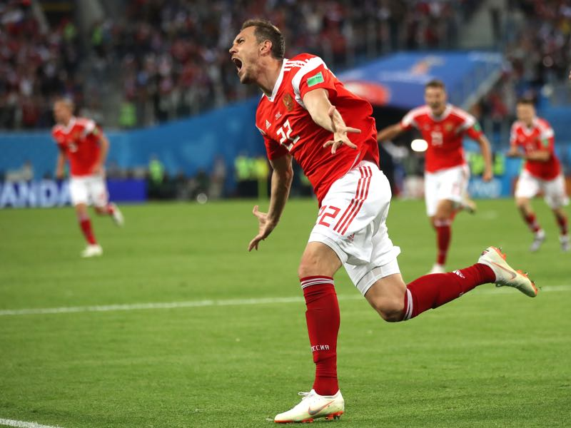 Artem Dzyuba was in remarkable form at the World Cup (Photo by Julian Finney/Getty Images)