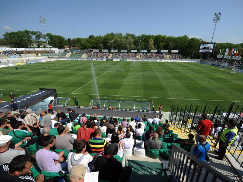 Ludogorets vs CSKA Moscow will take place at the Ludogorets Arena in Razgrad (Photo by Nikolay Doychinov/EuroFootball/Getty Images)