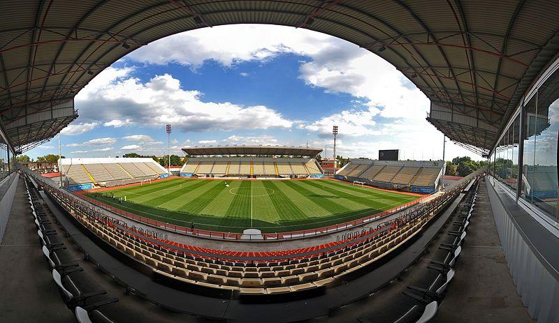 Ukraine vs Estonia will take place at the Slavutych-Arena in Zaporishia Ukraine (Валерий Дед CC-BY-3.0)