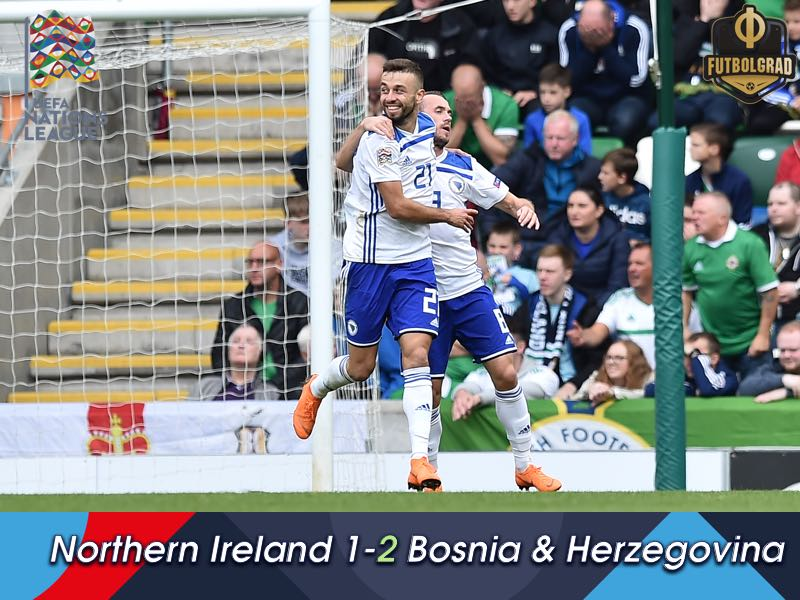 Bosnia take three points against a hard working Northern Ireland side in Belfast