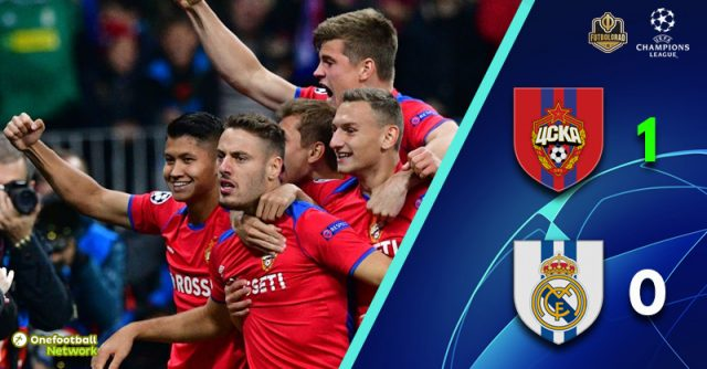Gone in 65 seconds! CSKA Moscow shock Real Madrid at the Luzhniki