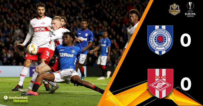 Spartak resilient as they hold Rangers to a 0-0 draw at Ibrox