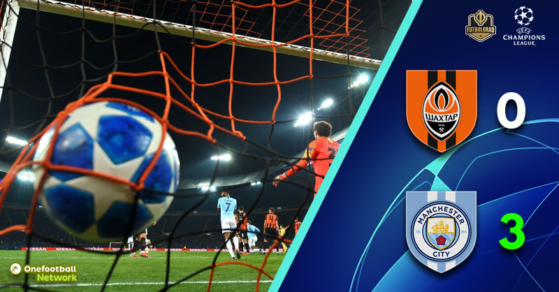 Manchester City make history by handing Shakhtar their first ever home defeat to English opposition