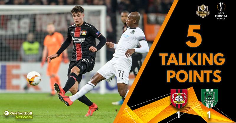 Leverkusen crash out of Europe, Krasnodar on the up