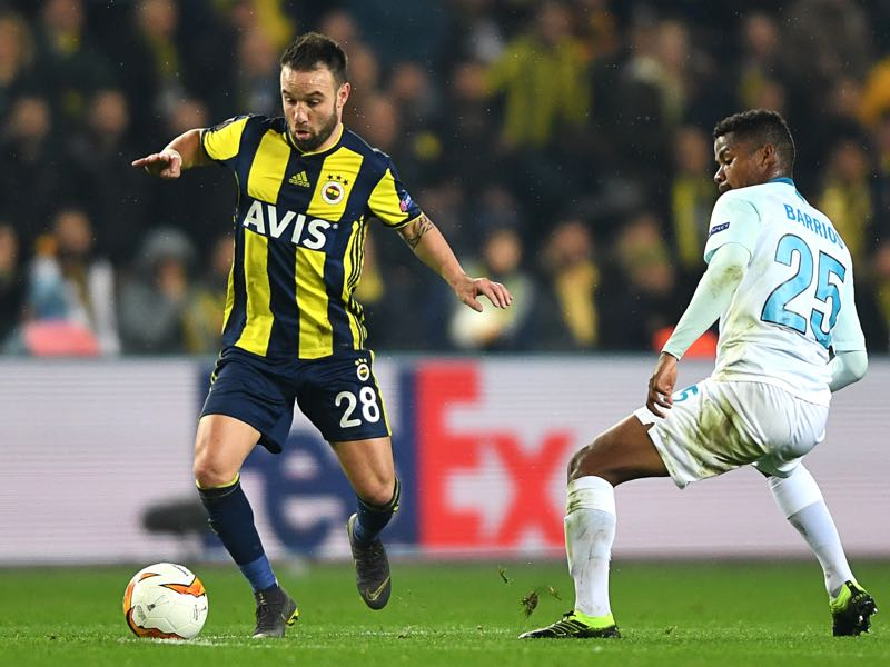 Mathieu Valbuena joined Olympiacos from Turkish side Fenerbahçe (OZAN KOSE/AFP/Getty Images)