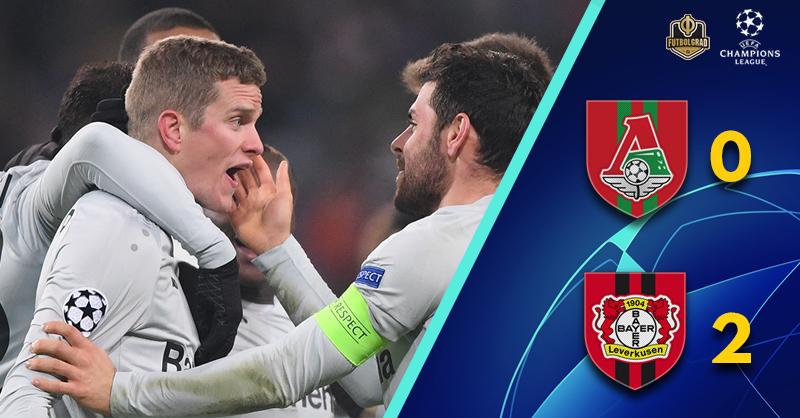 Lokomotiv Moscow eliminated by an industrious Bayer Leverkusen